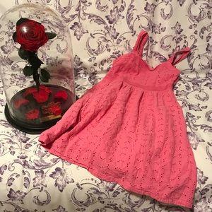 """Pretty In Pink"" Chaps- Girls dress"
